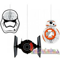 Star Wars Force Awakens Hanging Honeycomb Decorations (3) Party Supplies
