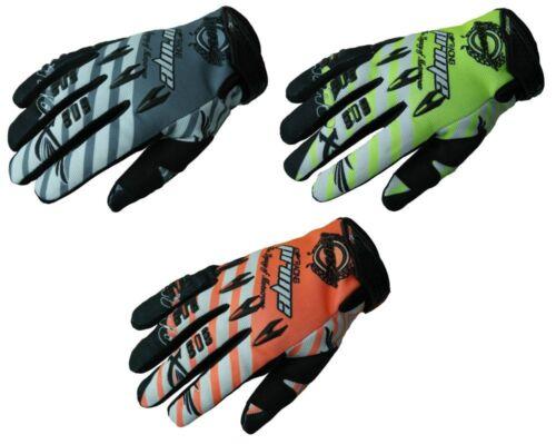 Heyberry MX Quad Motocross Handschuhe schwarz weiß orange grau grün M XXL