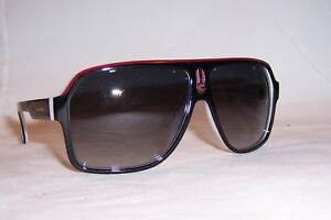 NEW Carrera Sunglasses 1001 S 80S-9O BLACK WHITE GRAY AUTHENTIC ... f61d3ec20e0e