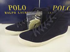Lauren Ralph Polo Solomon Shoes Mens Blue Sneakers High Skier Suede 5uTFJl3K1c