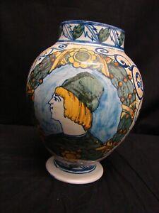 Antigua-Florero-Ceramica-Maiolica-039-800-Toscana