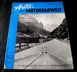 Auto & Motorrad: Teile Berichte & Zeitschriften Und Motorradwelt 20/50 Paris 1950,alfa Romeo 1900,adac-6-stunden-fahrt 50 FleißIg Auto
