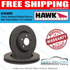haw Hawk Talon 2007 Audi Q7 Iron Disc Drilled and Slotted Rear Brake Rotor Set