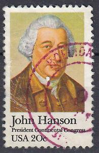 Estados unidos sello con sello 20c John Hanson Continental Congress alrededor del sello/4484