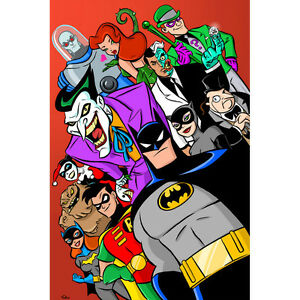 Batman-The-Animated-Series-Superheroes-Art-Silk-Poster-12x18-24x36-inch