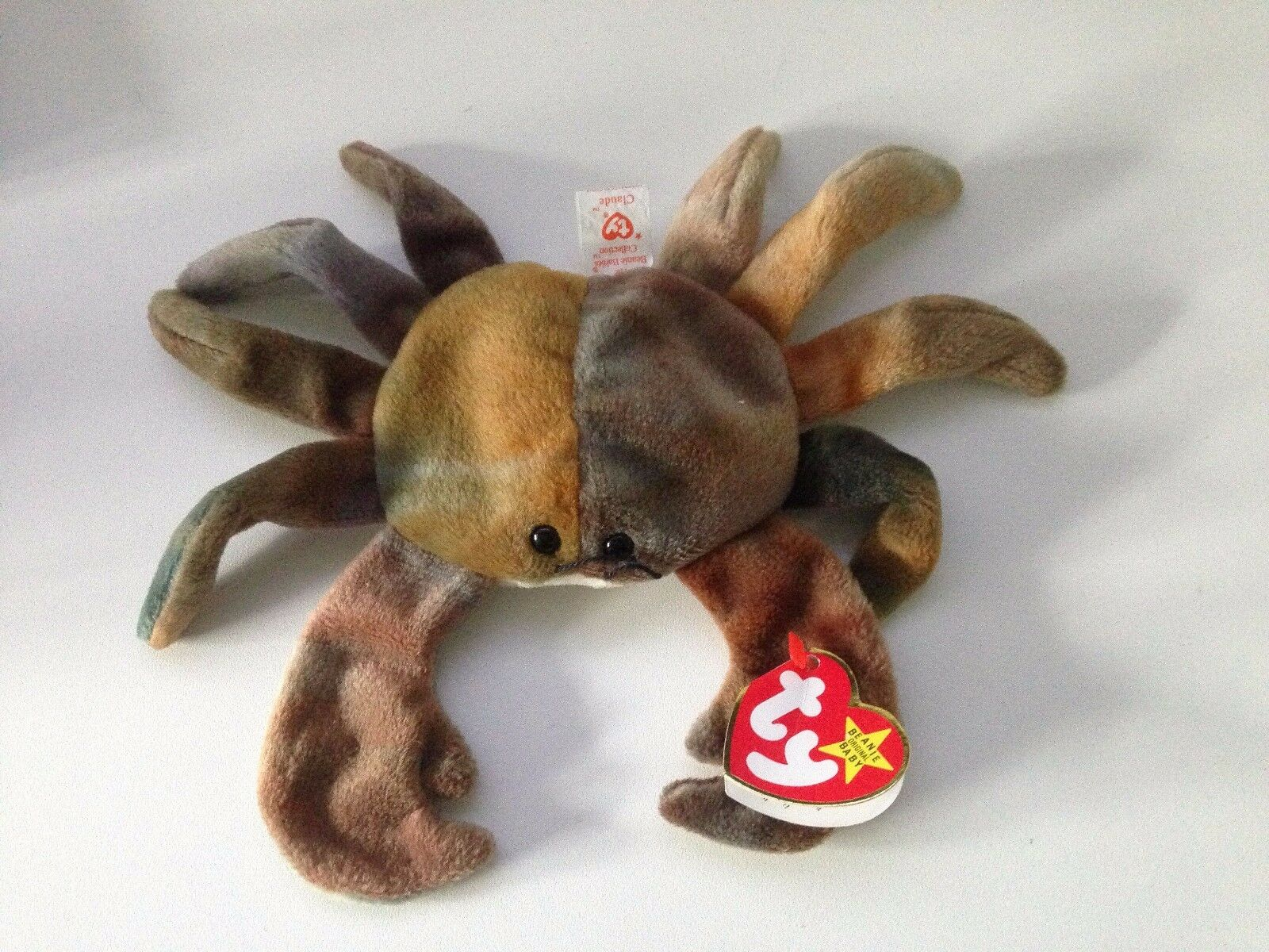 ... TY Beanie Babies - Claude The The Claude Crab 1996 PVC Pellets Very Rare  with Tag 8b3a07e8ec62