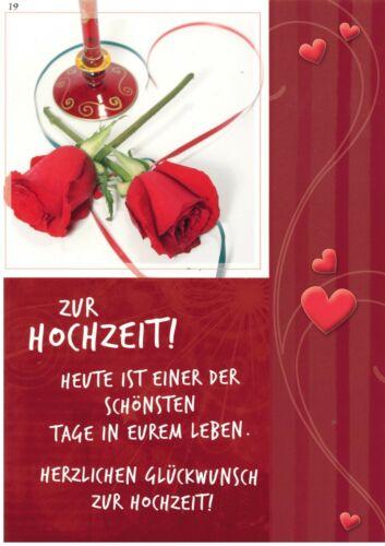Grußkarte A4  Zur Hochzeit Herzlichen Glückwunsch Großformat XXL 19