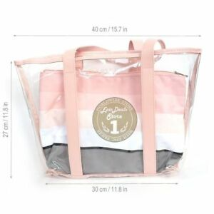 Image Is Loading Mary Kay Clear Beach Bag Pink With Removable