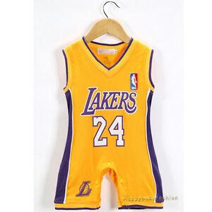 e797119dbb3 Baby Boy NBA JERSEY Kobe Bryant  24 Los Angeles Lakers Basketball ...