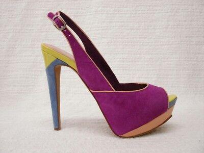 Nib Jessica Simpson Shavon Ultra Violetti Piattaforma Di Camoscio