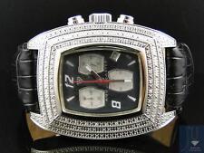 Mens Aqua Master Jojo Jojino Joe Rodeo Black Band 40 mm Diamond Watch 93-8 W#26J