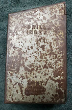 Vintage Huot Drill Index Case Only Solid And Great Hinges Ready For Drill Bits
