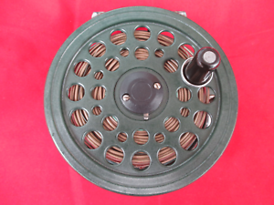Vintage-Shakespeare-Condex-Salmon-Trout-Fly-Fishing-Reel-Dia-4-1-4-inch-Green