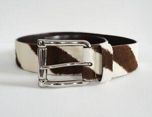 c08f2fac89  425 RALPH LAUREN Animal ZEBRA Print PONY HAIR Waist Belt S ITALY