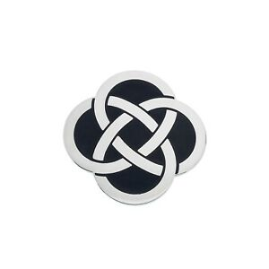 Celtic-Knot-Black-Brooch-Silver-Plated-Brand-New-Gift-Packaging
