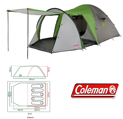 Coleman Cortes 5 berth person man festival family camping tent 3138522094706 | eBay