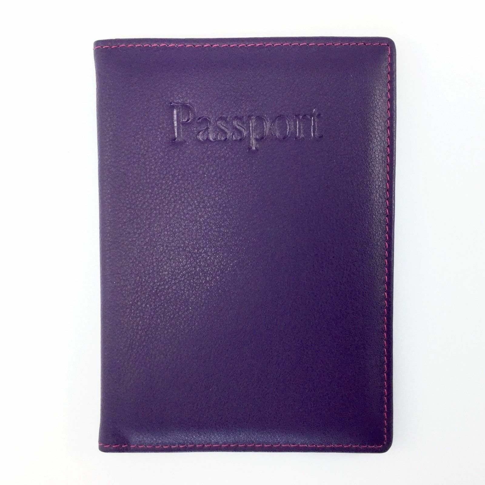Qualité soft violet violet violet mala cuir voyage passeport et porte-carte portefeuille 556 p 8d79bf