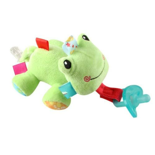 Newborn Baby Dummy Pacifier Clip Cute Animal Toy Plush Soother Nipples Holder UK