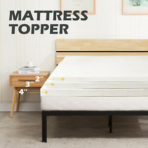 5-5-Comfort-2-039-039-3-039-039-4-039-039-Twin-Full-Queen-King-Memory-Foam-Mattress-Topper-White