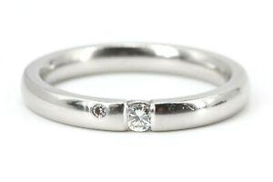 Diamant-Platin-Ring-950-Pt-0-08ct-TW-VS1-Groesse-56-Solitaer-Ring-Damen-Diamantring