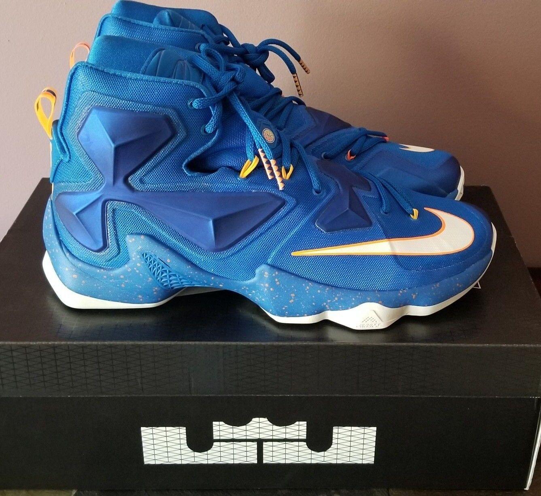 finest selection 9df8b 4f024 Nike Lebron XIII Balance Basketball Shoes Soar Blue Lakers 807219-418 Size  13
