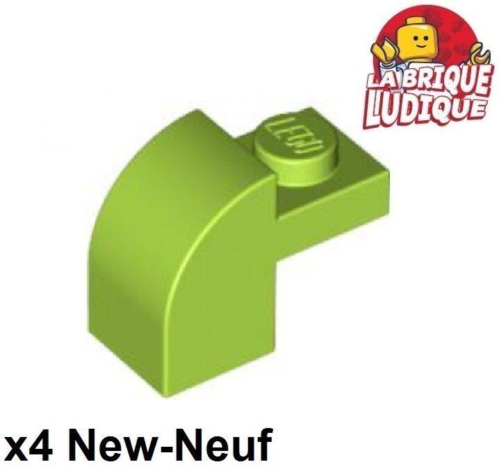 Green Dark Brick 1x2x1 Curved Top New New 6 x lego 6091 Brick Curved