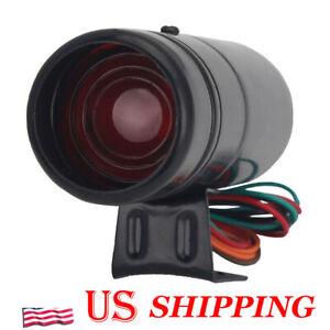 Black Adjustable Tachometer RPM Tacho Gauge Shift Light Lamp Red LED Universal