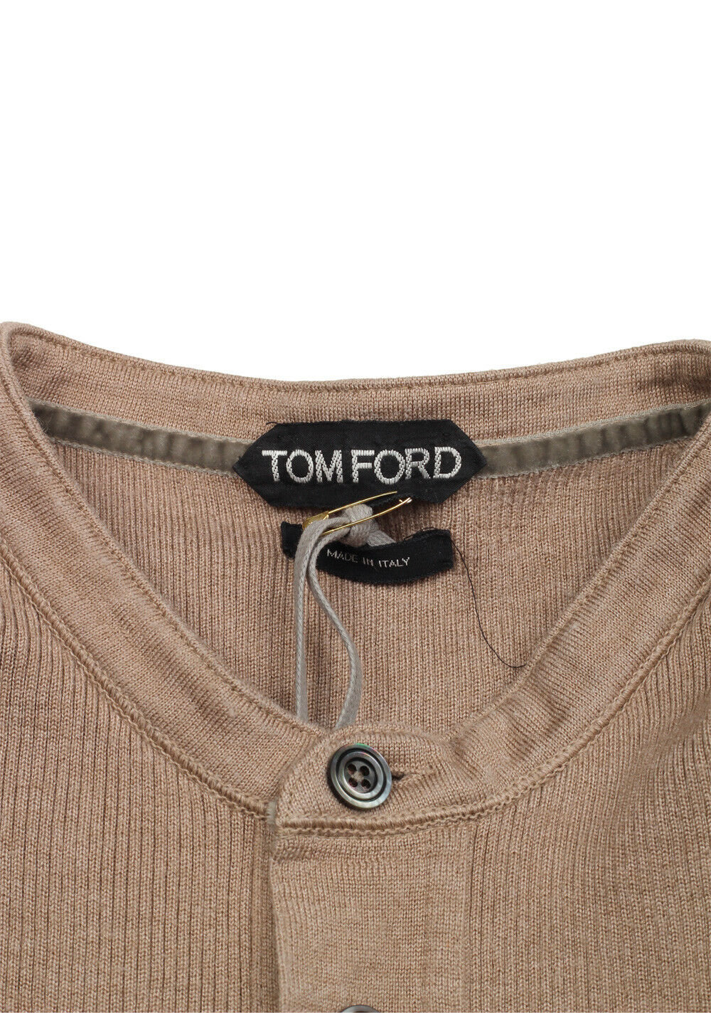 Nuovo TOM FORD marrone Long Sleeve Henley Sweater Size Silk 48 / 38R U.S. In Silk Size Blen... 94b915