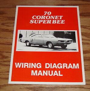 1970 Dodge Coro Super Bee    Wiring       Diagram    Manual 70   eBay