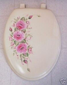 Terrific Details About Hp Roses Toilet Seat Elongated Bone Pink Roses Pretty In Pink Lamtechconsult Wood Chair Design Ideas Lamtechconsultcom