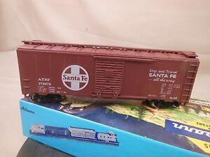 HO-SCALE-ATHEARN-BLUE-BOX-KIT-BUILT-40-039-BOX-CAR-ATSF-SANTA-FE-1-11