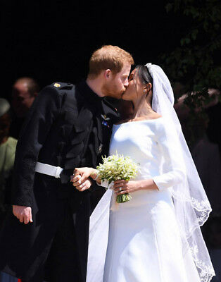 M165 Wedding of Prince Harry and Meghan Markle UNSIGNED photograph