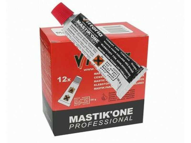 12x Vittoria Mastik'one  Single Tyre Tubular Glue Rim Cement BOX OF 12 30g Tubes  100% free shipping