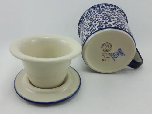 Punkte K073-MAGD 0,3 Liter, Becher Bunzlauer Keramik Teetasse mit Sieb