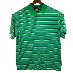 Nike-Golf-DRI-FIT-Men-039-s-Polo-Shirt-Size-XL-Green-Striped-Short-Sleeve-S-S