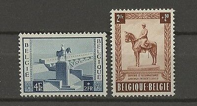 989-991 ** Mnh 1954 2.wahl Pferde Belgien Denkmal Second Choice !