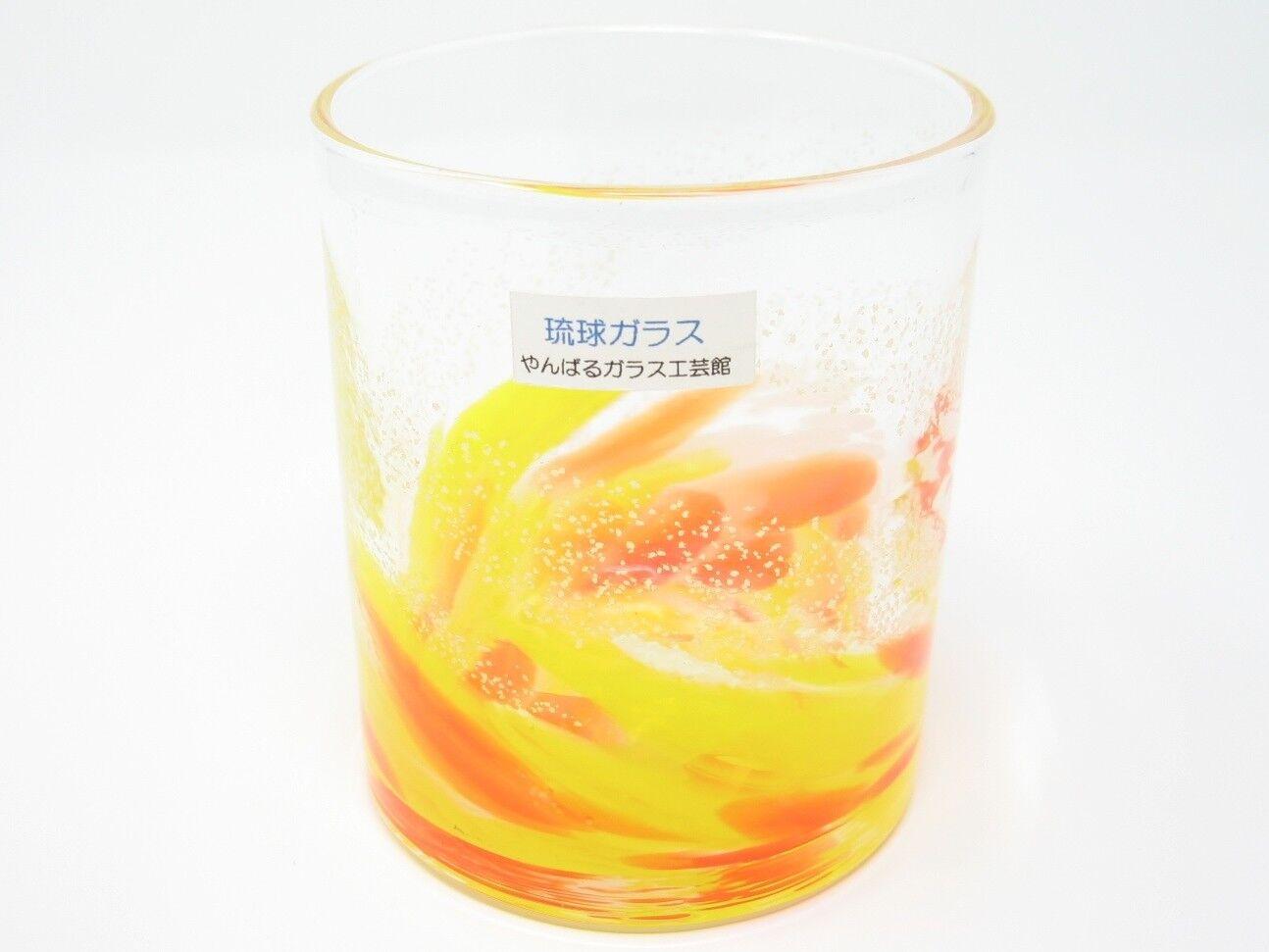 Amarillo Luminoso Ryukyu rocas de vidrio (hecho a mano en Okinawa)