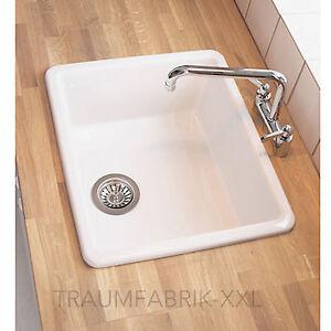 Waschbecken küche keramik  Küchenspüle Waschbecken Einbauspüle Spüle + Zubehör Spülbecken ...