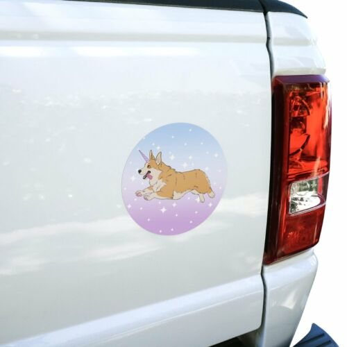 Unicorg Corgi Unicorn Automotive Car Window Locker Circle Bumper Sticker