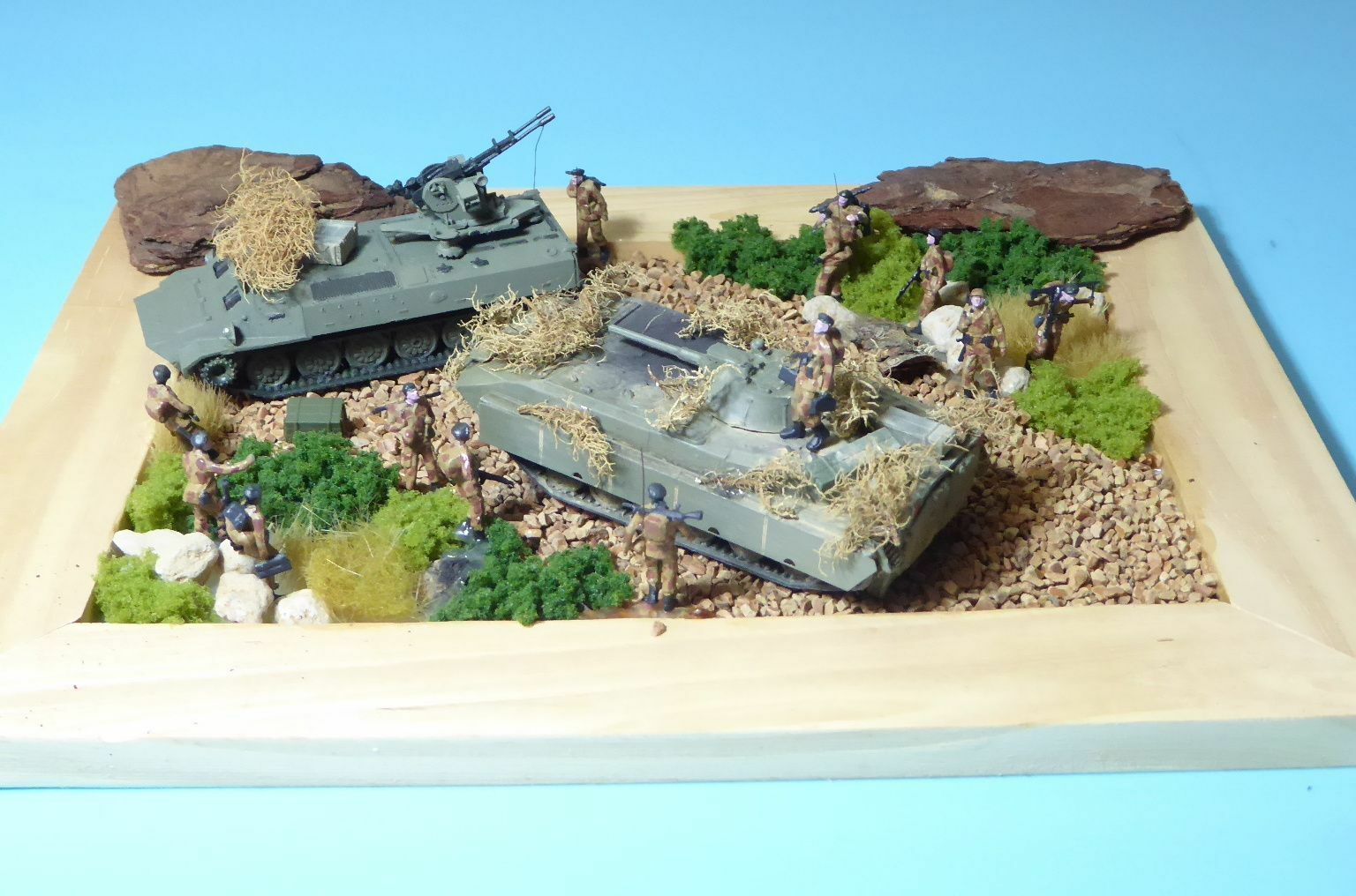 RK modelli diorama con 2 pezzi carri armati russi, militare 1 87 NVA, URSS 1 87 h0