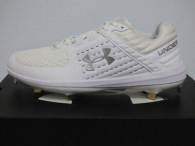 UA Yard Low ST Baseball Cleats - White
