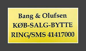 KØB - SALG - BYTTE AF BANG & OLUFSEN (B&O) RING...