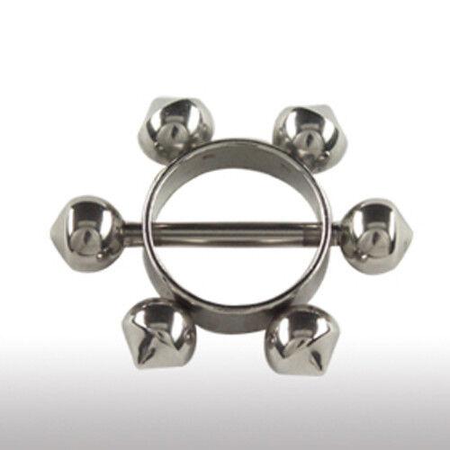 Brust Piercing Schmuck Ring Brust Piercing Stecker mit Ring und Noppen am Rand