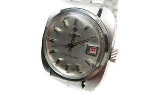 Vintage-RADO-Las-Palmas-Date-Silver-Dial-Stainless-Steel-Automatic-Ladies-Watch
