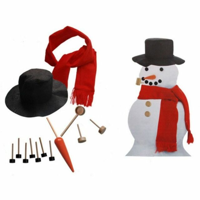 Snowman Making Dressing Kit Decorating Winter Party Toys Christmas Holiday Gifts