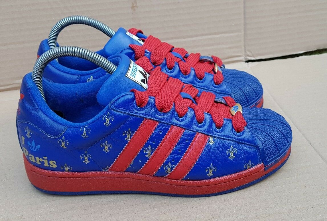 ADIDAS SUPERSTAR 35th ANNIVERSARY I LOVE PARIS TRAINERS SIZE 5RARE 25 CITIES