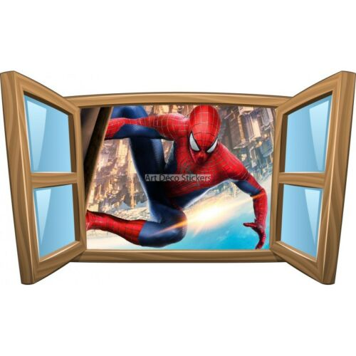 Sticker enfant fenêtre Spiderman réf 994 994