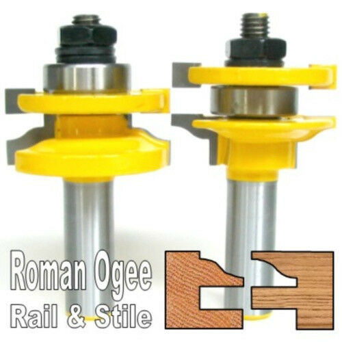 "2pc 1/2"" Shank Roman Ogee Rail & Stile Router Bit Set sct-888"