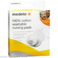 Medela Nursing Bra Pads Cotton Breast Milk Leakage Protection Washable X4 89972