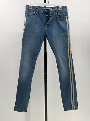 Jeans Generous Topman Stretch Röhrenjeans Seitenstreifen Größe 30 Geknöpfter Hosenschlitz Jd15 Vivid And Great In Style